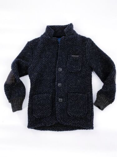 Zara Knitwear Boys Wool Jacket Navy Elbow Patch Size 4 - 5 years  NEW NWT