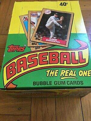 1987 Topps Baseball Unopened Wax Box FASC From A Factory Sealed Case!