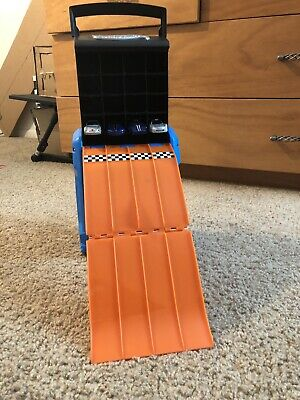 Portable Hotwheels Holder And Track