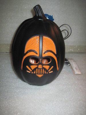 Brand New HTF Darth Vader Halloween Lighted Pumpkin Head Blowmold Star Wars