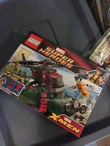 Lego 6866 wolverine chopper showdown complete set open deadpool