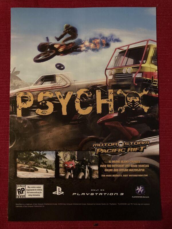 Motorstorm Pacific Rift Xbox PlayStation 2008 Ad/Poster Promo Art
