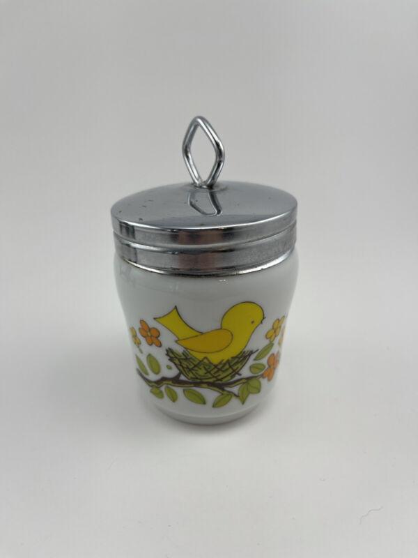 Vintage Lorrie Design Bird in Nest Egg Coddler made in Japan
