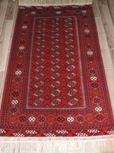 4x7ft. Handwoven Tekke Turkoman Bokharra Wool Rug