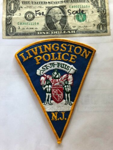 Livingston New Jersey Police Patch un-sewn in Great Shape
