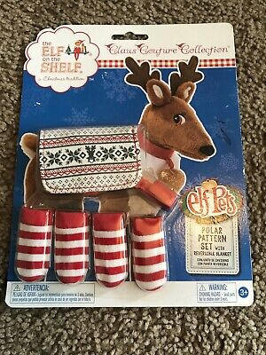 Elf On The Shelf Reindeer Pets Outfit Socks Polar Pattern Set