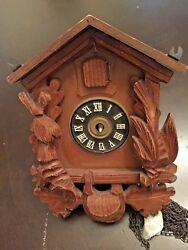 VTG AUGUST SCHWER Black Forest German Carved Style Cuckoo Clock  Parts Repair