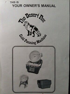 Camel Mining Products Desert Fox 12v Portable Gold Panning Machine Owners Manual