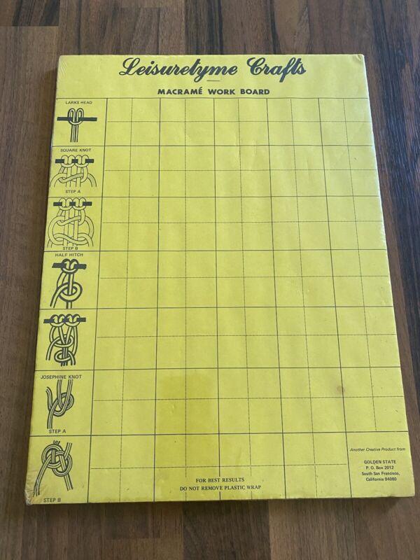 "VINTAGE NOS Leisuretyme Crafts Macrame Board 11.5"" X 16"" NEW OLD STOCK"