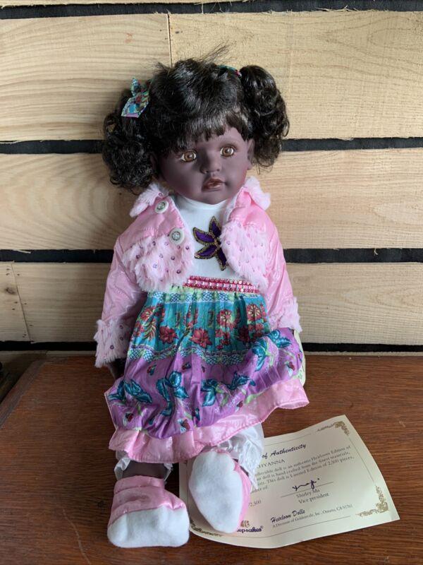 Golden Keepsakes KHYANNA DVM-9649 African American Doll Vinyl Voice box