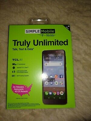 Simple Mobile TCL A1 Prepaid Cell Phone / New in Sealed Box
