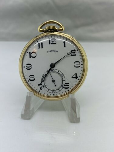 1922 Illinois 274 Model 1 12S 21J 3P 10K RGP Pocket Watch WITH VIDEO
