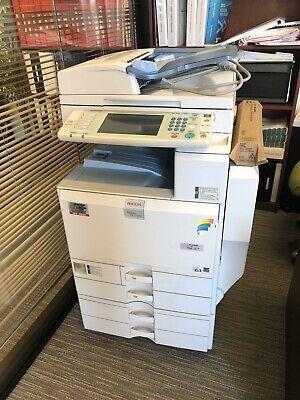 Ricoh Aficio Mp C5000 Color Printer Scanner Copier 50 Ppm Laser Tabloidledger