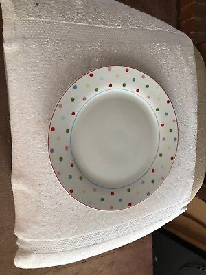3 Home (Target) Chelsea Park Dinner Plate (s) Polka Multi Color Dots Porcelain (Dinner Plates Target)