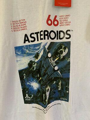 NWT Atari Asteroids short sleeve white T-Shirt, Size M