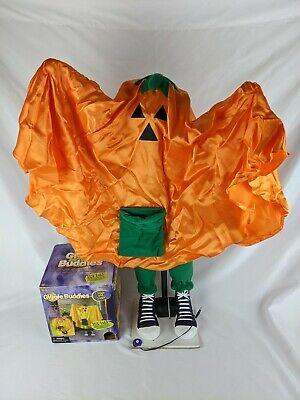 Vintage Gemmy Giggle Buddies Pumpkin Ghost Boy Animated Halloween Greeter Decor