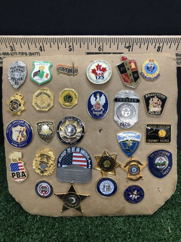 Police vintage pin & police pins, Mini Badges lot