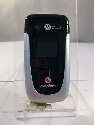 Incomplete Motorola V360V Black&Silver Vodafone Network Mobile Flip Phone