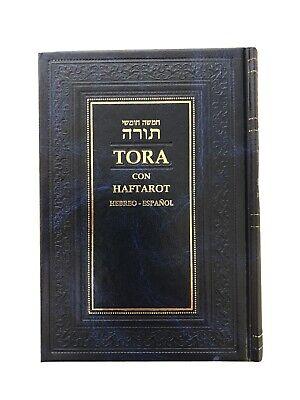 Hebrew Espanol TORAH Tora Pentateuch and Haftarot Bible Book Judaica israel