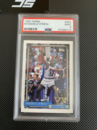 1992 Shaquille O Neal Topps Rookie PSA 9 High End Slab  - $200.00