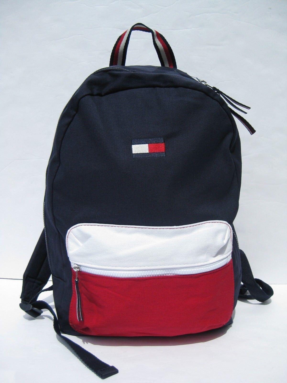 7525f788cafe Tommy Hilfiger Backpack Large Bag Logo Flag Backpacks luggage Bags Blue NEW  фото