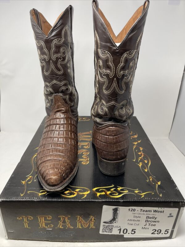 Team West Belly Brown J Toe 10.5 Size Boots