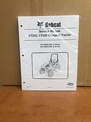 Bobcat Ct225 Ct230 Compact Tractor Service Manual Shop Repair Book Pn 6986526