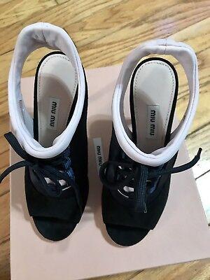 miu miu shoes NIB Orig $790 Rare And Gorgeous