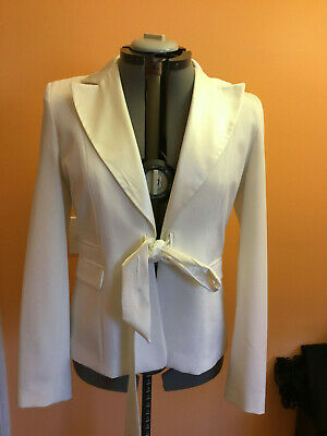 Off White Satin Lining - Primark Atmosphere Ladies off-white/satin pockets lining Blazer Coat Jacket Sz L