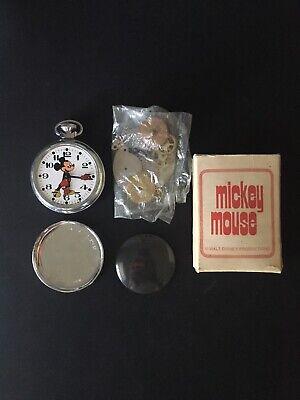 Vintage Bradley Mickey Mouse Pocket Watch (dissassembled)