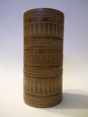 Älterer Köcher aus Bambus für Dokumente Asien hand-gefertigt