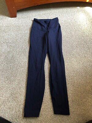 Nike Dri-Fit Navy Blue Leggings- Nylon/Spandex Pants Activewear Bottoms SMALL