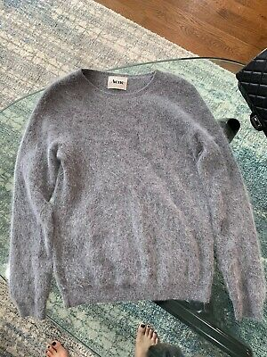 Acne Studios Angora Sweater Gray Small