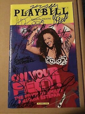 On Your Feet Signed Playbill