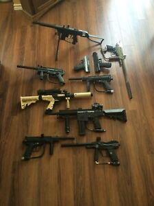 9 paintball guns lots of masks co2s and other gear