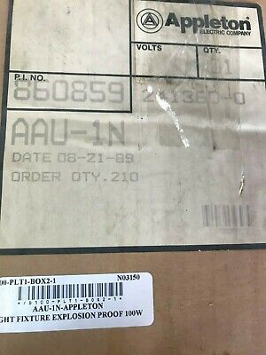 Appleton Aau-1n Explosion Proof Light Fixture 100w 300v Max A-51 Series - New