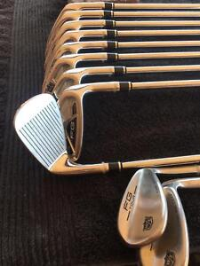 Wilson FG Tour irons+bag+buggy4y old