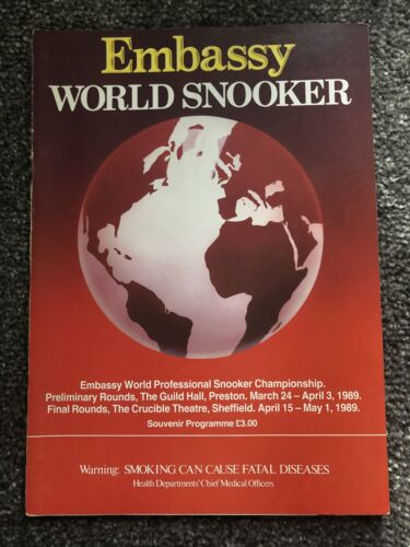 Embassy World Snooker Souvenir Programme 1989.