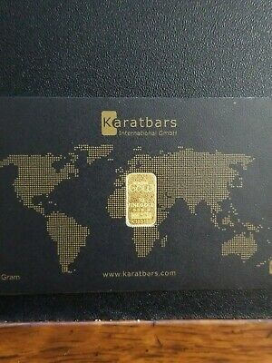 Karatbars International GmbH GOLD 1 Gram Bar In Assay Sealed 0.9999 Fine