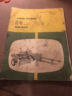 John Deere 24 Series Hay Baler Operators Manual