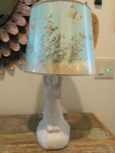 Vintage Van Briggle Pottery Lamp and Shade
