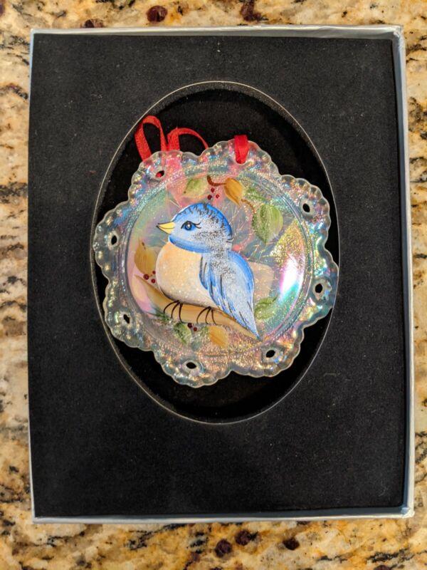 Fenton Ornament - Blue Bird - # 1714 5T - Signed - New in Box