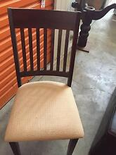 solid wood round dining table + 4 chairs Homebush Strathfield Area Preview