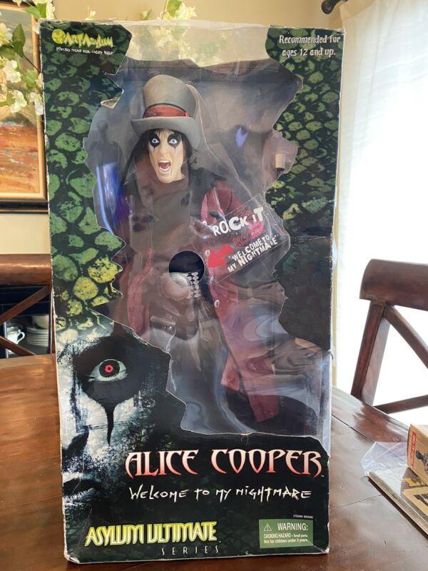 "ART ASYLUM Alice Cooper 18"" Ultimate Asylum Series 2001 Realistic NIB"