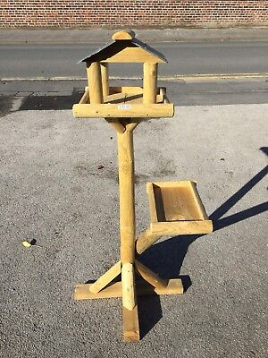 'Emu' Bird Table. Wooden Or Slate Roof Available