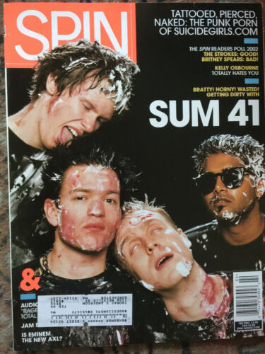 Sum 41 cover SPIN  magazine 2003 with address label