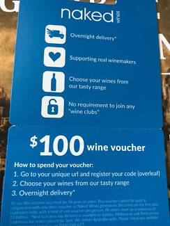 Naked Wines $100 wine voucher for sale