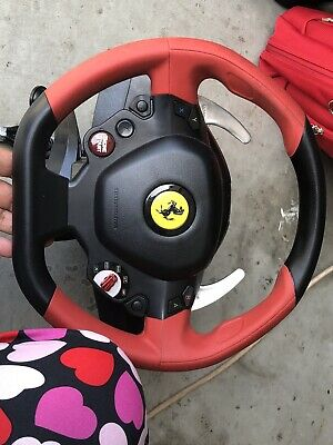 Thrustmaster Ferrari 458 Spider Racing Steering Wheel&Pedals Xbox One NOT Tested