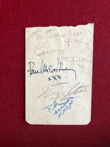 """BEATLES, """"Autographed"""" (PSA / DNA Letter), Album Page (All 4) RARE / Vintage"""