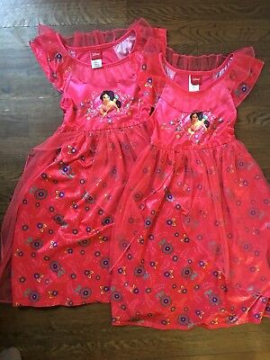 Disney Princess Jasmine Nightgown Costume Size 6 Sister Set Twin Aladdin Red - Red Jasmine Costume